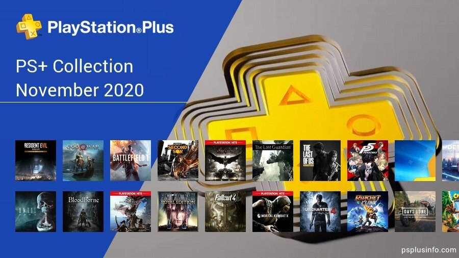 A long list of games available this November on Playstation Plus