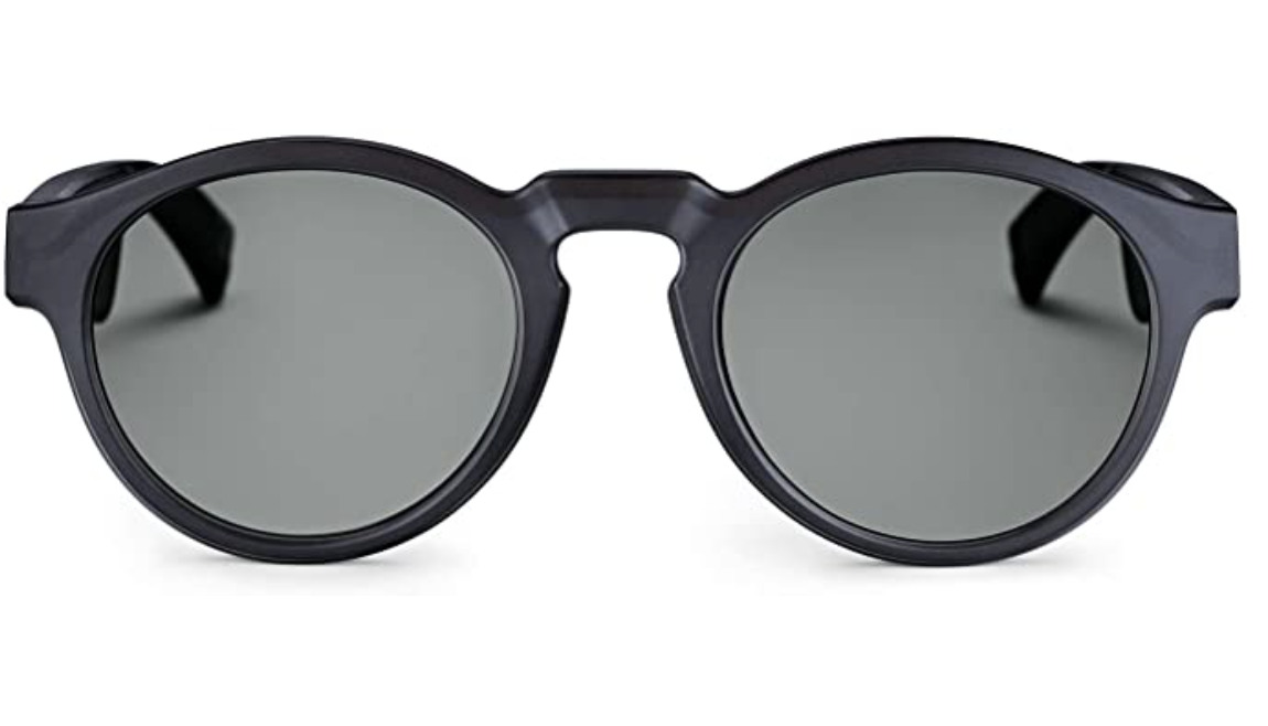 Bose black sunglasses with a rounded frame