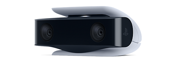 A dual-lense camera with a built-in stand made specifically for the Playstation 5