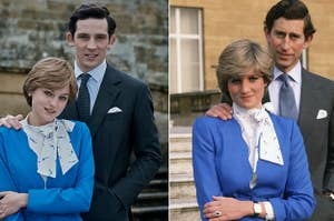 Prince Charles and Princess Diana in The Crown vs. real life