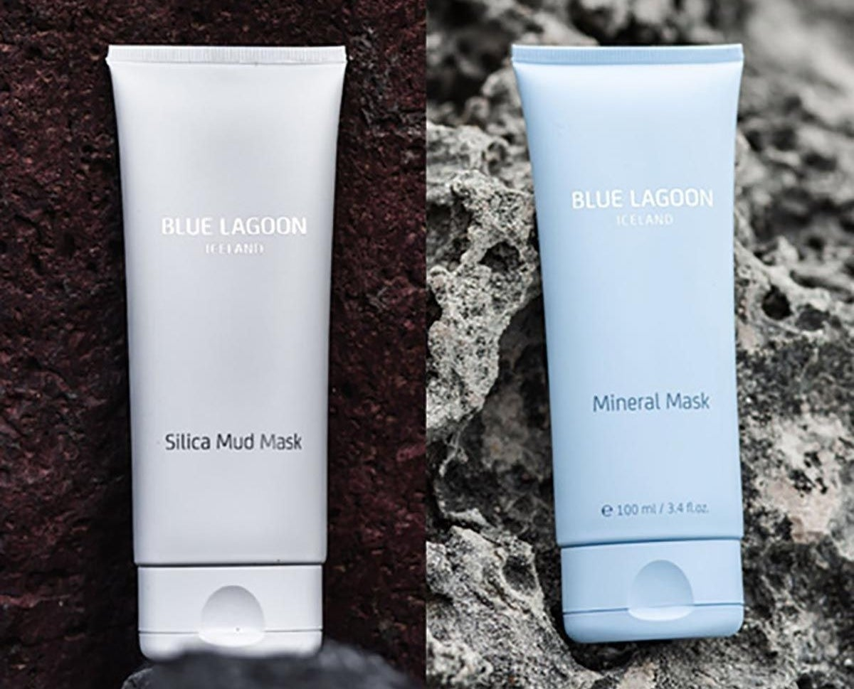 the white tube of silica mud mask and the blue tube of the mineral mask