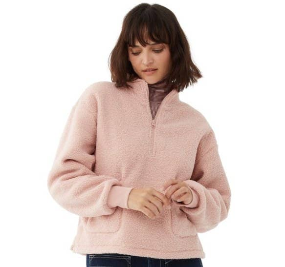 The faux sherpa sweater