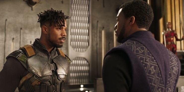 Erik talking to T'Challa about ruling Wakanda