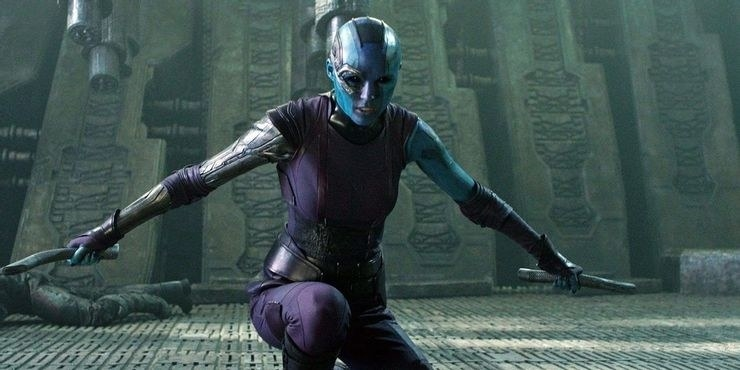 Nebula preparing to fight in an outer space environment