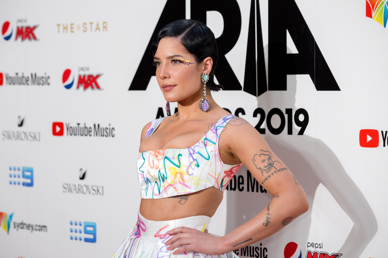 Halsey arrives for the 33rd Annual ARIA Awards 2019 in Sydney, Australia