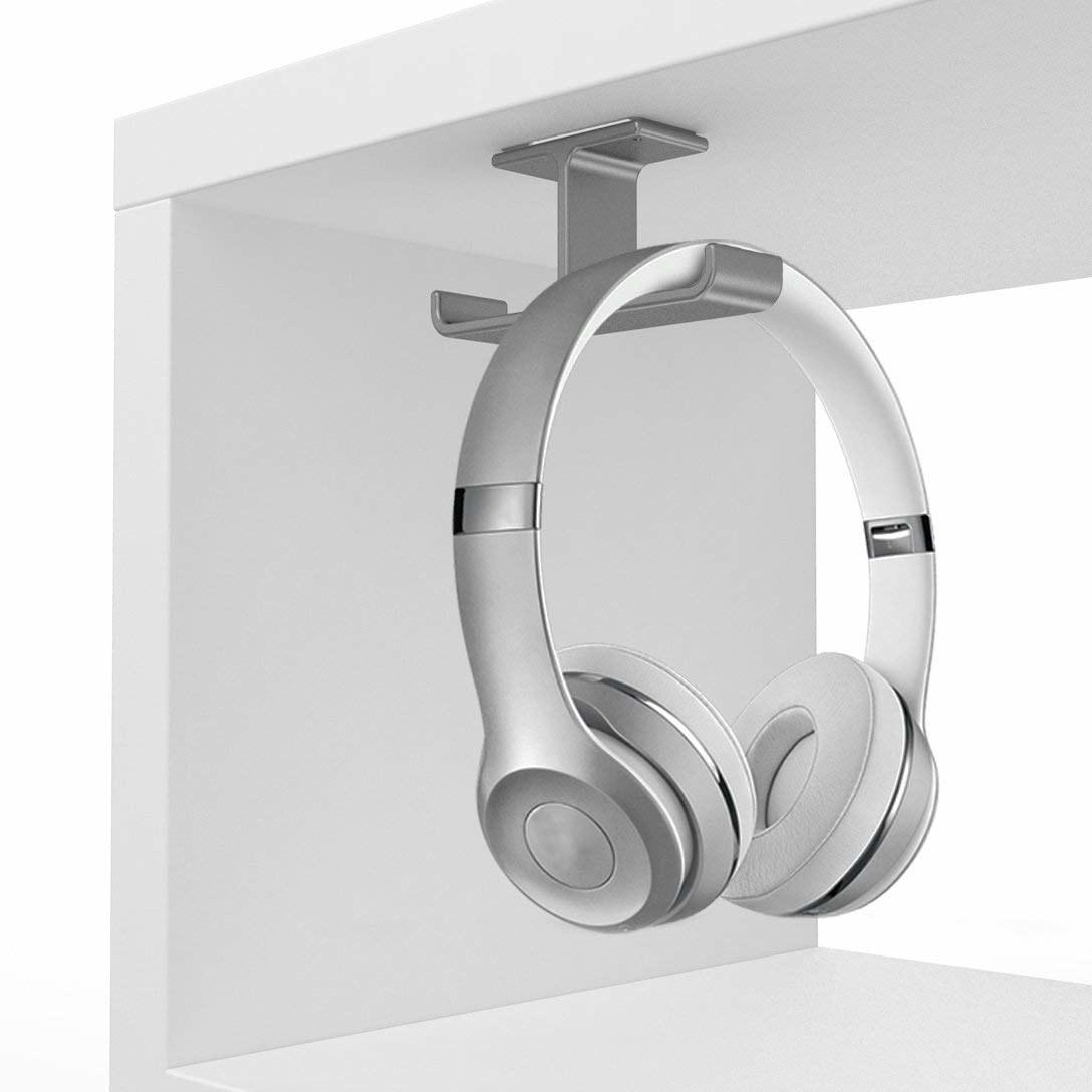 Under desk headphone holder
