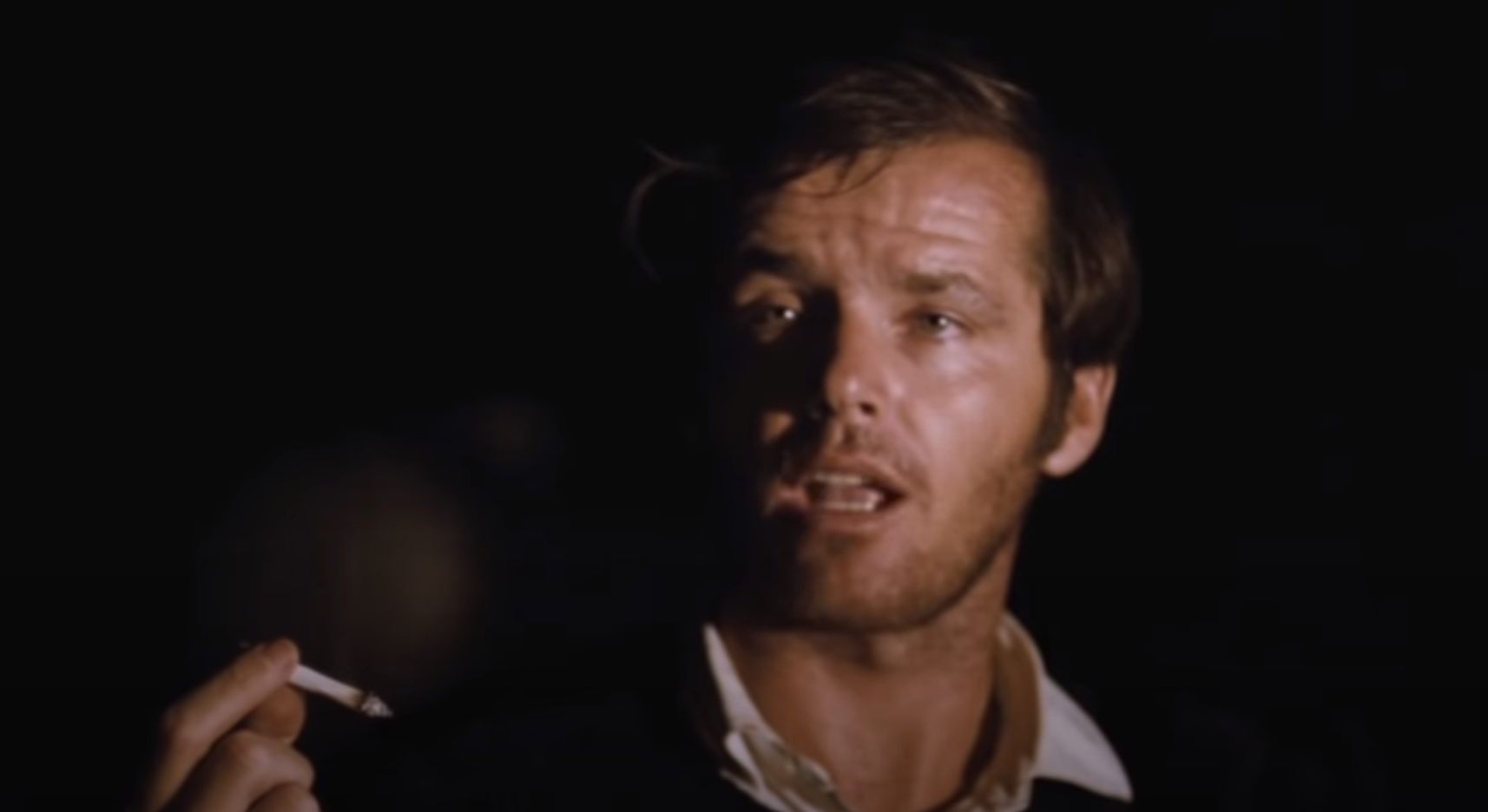 Nicholson holding a joint in Easy Rider