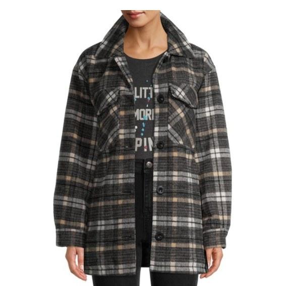 A plaid, flannel shirt