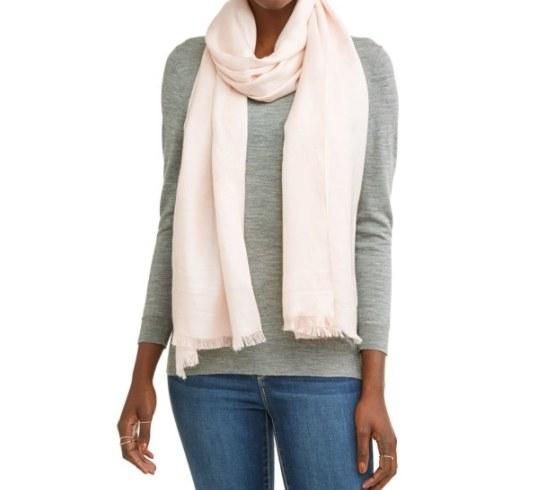 A light pink scarf