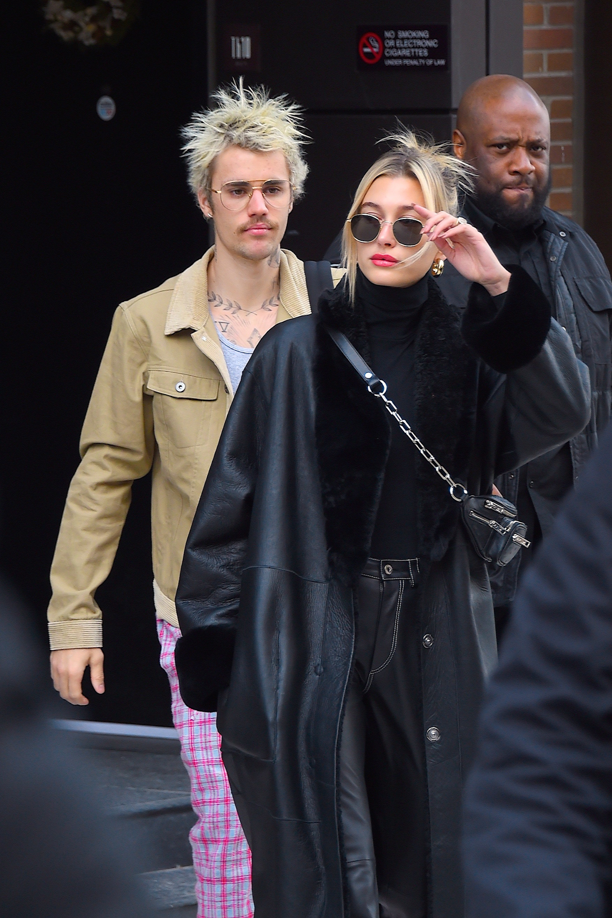 Justin Bieber and Hailey Bieber are seen out and about in Manhattan