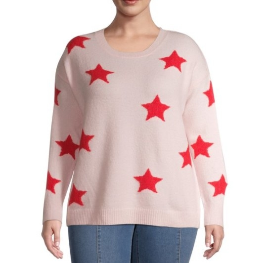 A sweater with large stars
