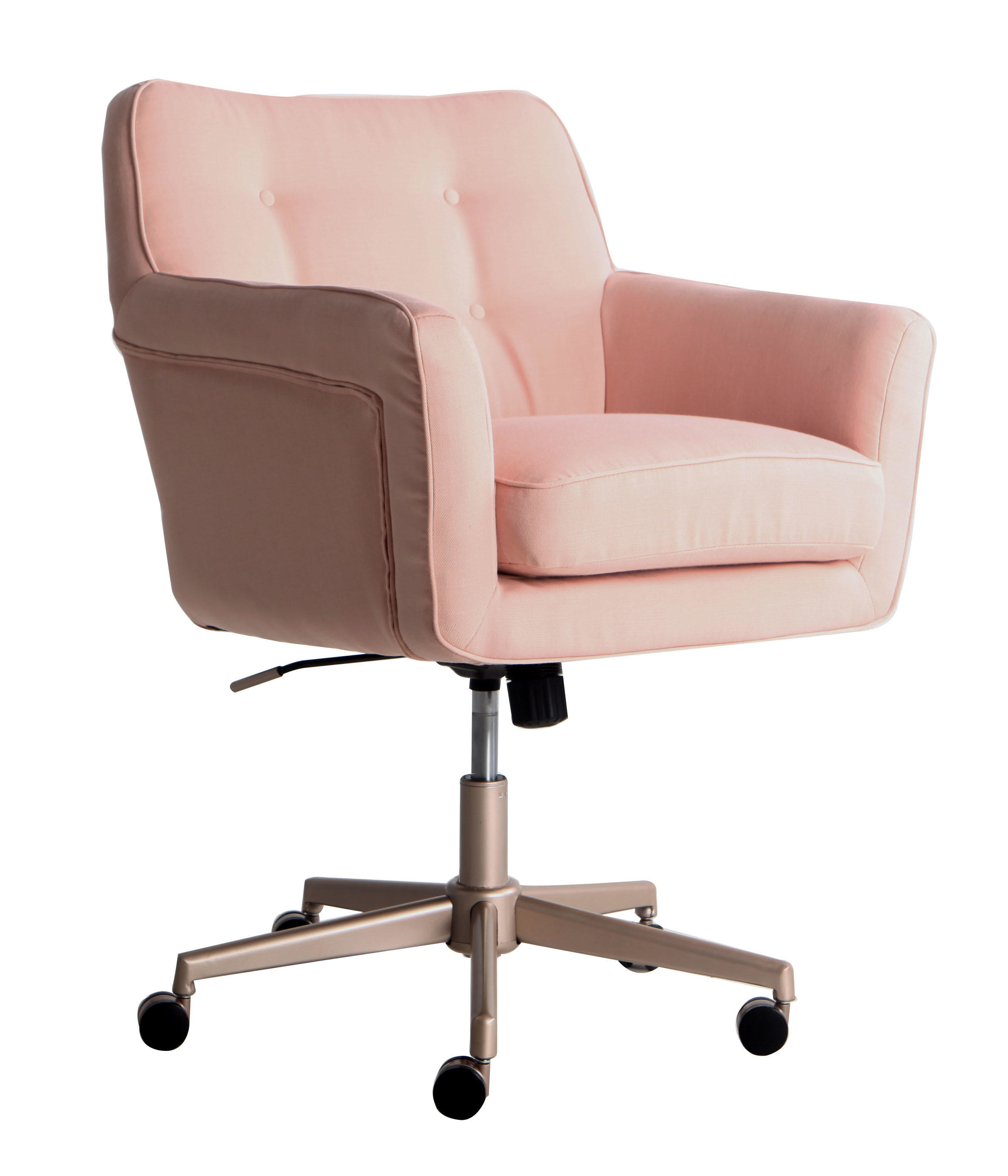 The pink office chair