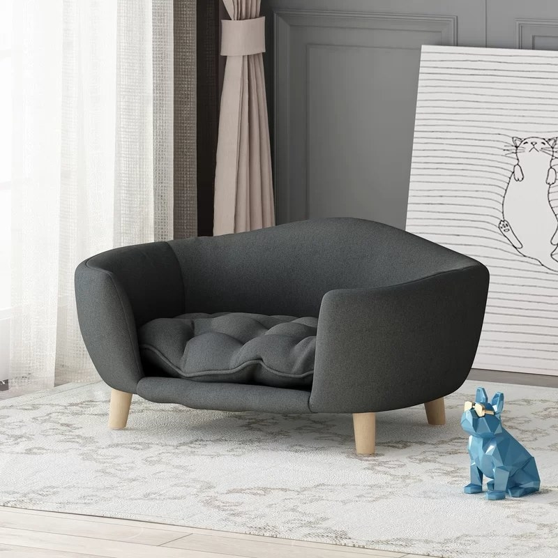 The gray pet sofa in a living room