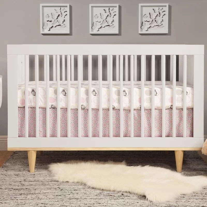 The crib configured for a newborn
