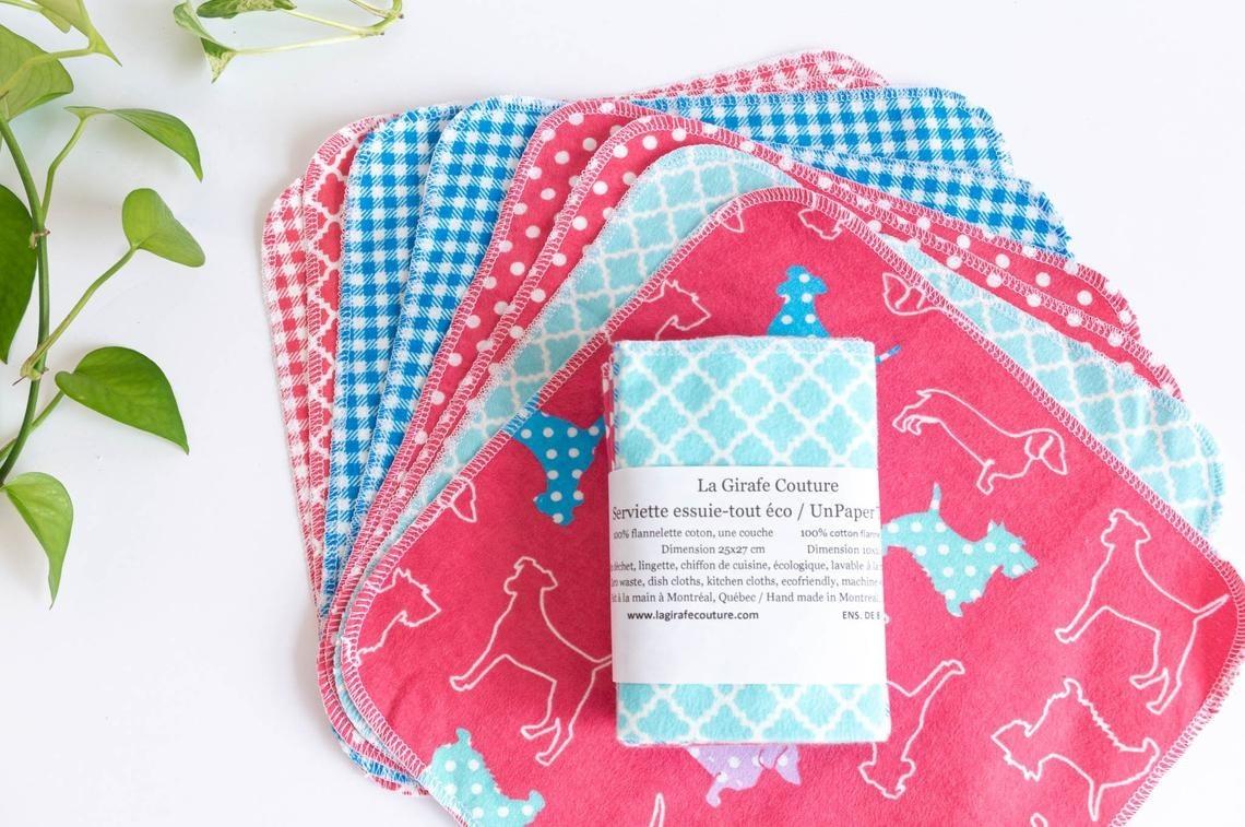 A pile of cloth napkins on a plain background