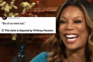 """""""Six of us went out"""" claim disputed by Whitney Houston meme"""
