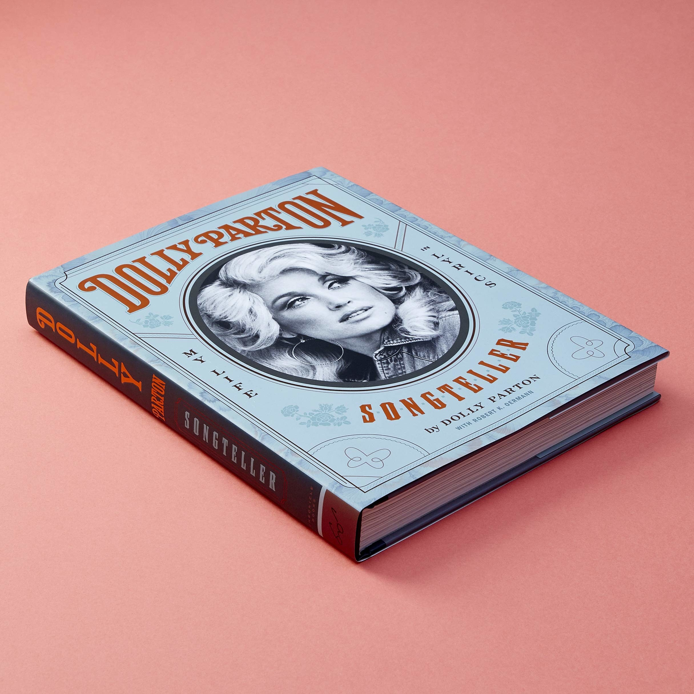The cover of the book with Dolly Parton's face on it