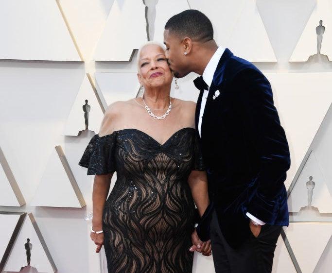 Donna Jordan and Michael B. Jordan attend the 91st Annual Academy Award