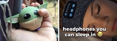 baby yoda speaker and headphones
