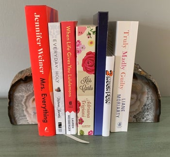 A reviewer's photo of the bookends in natural