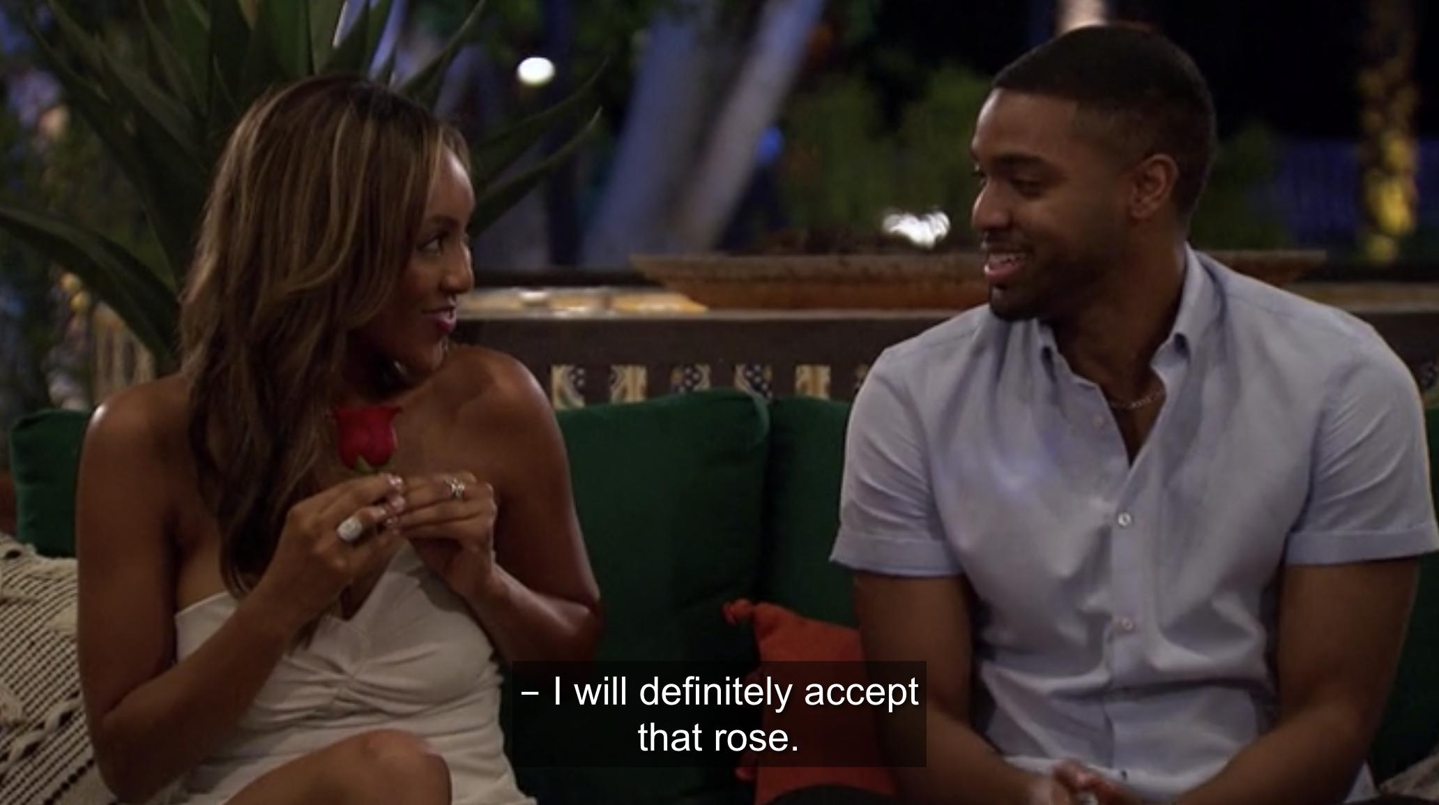 Ivan tells Taysia he'll accept the rose