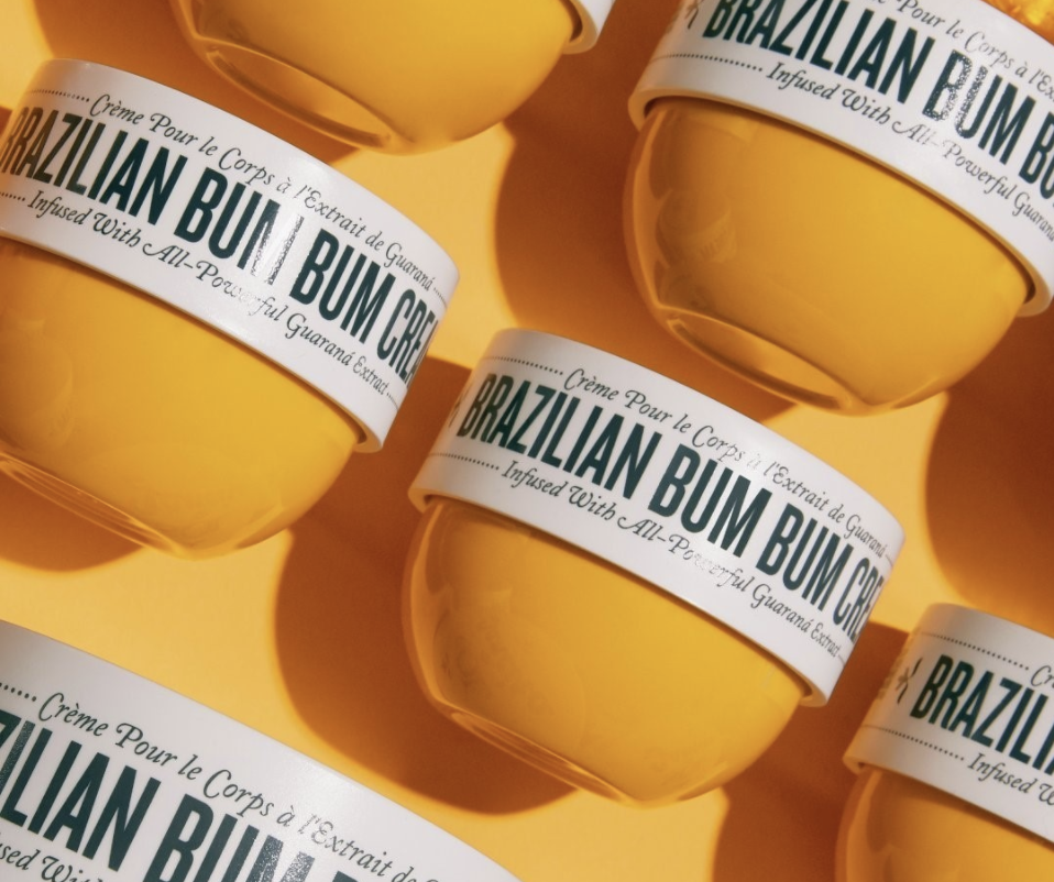 row of small jars of cream