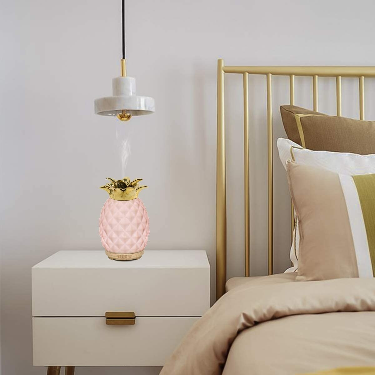 diffuser on a bedside table