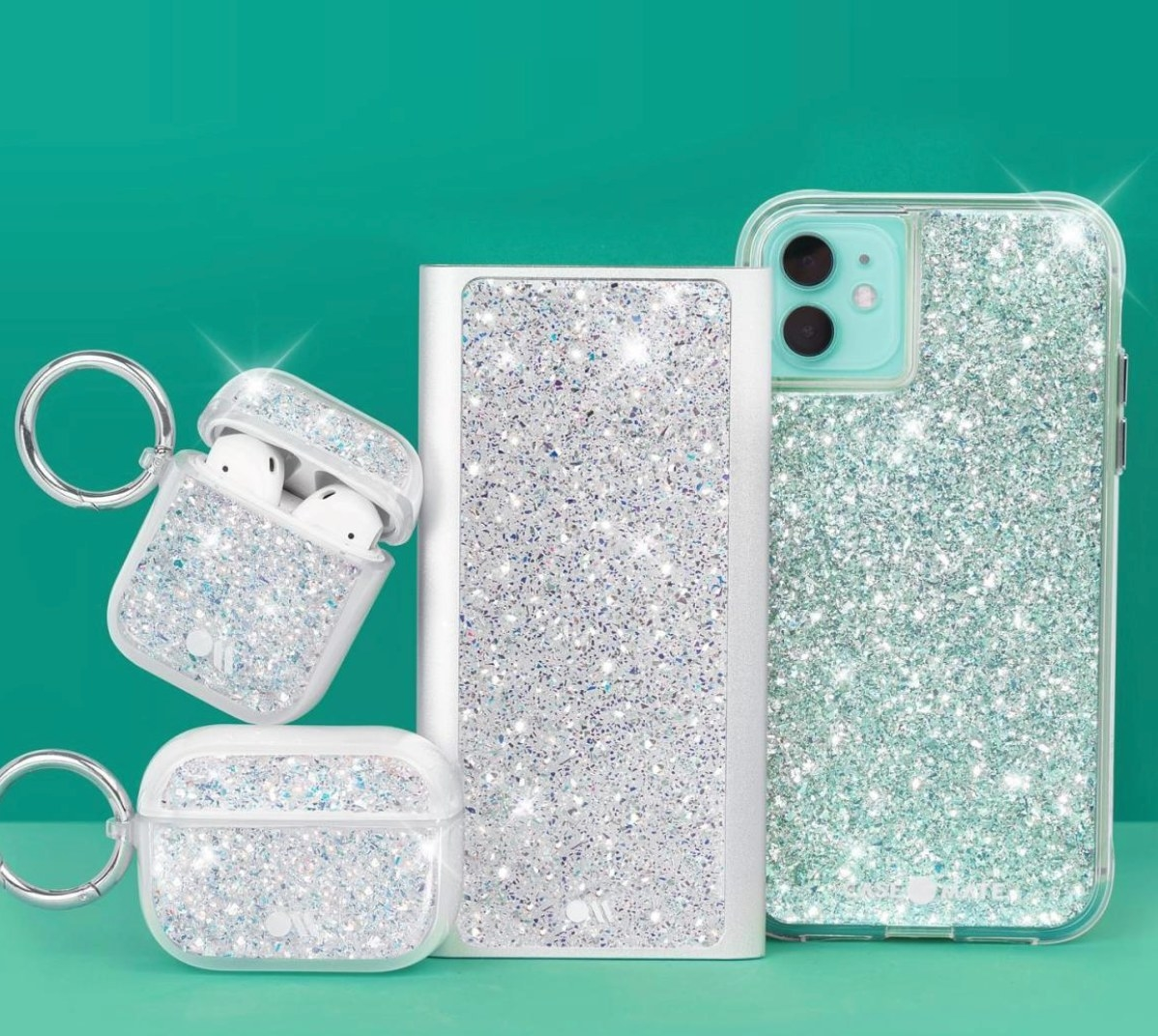 The glittery phone case