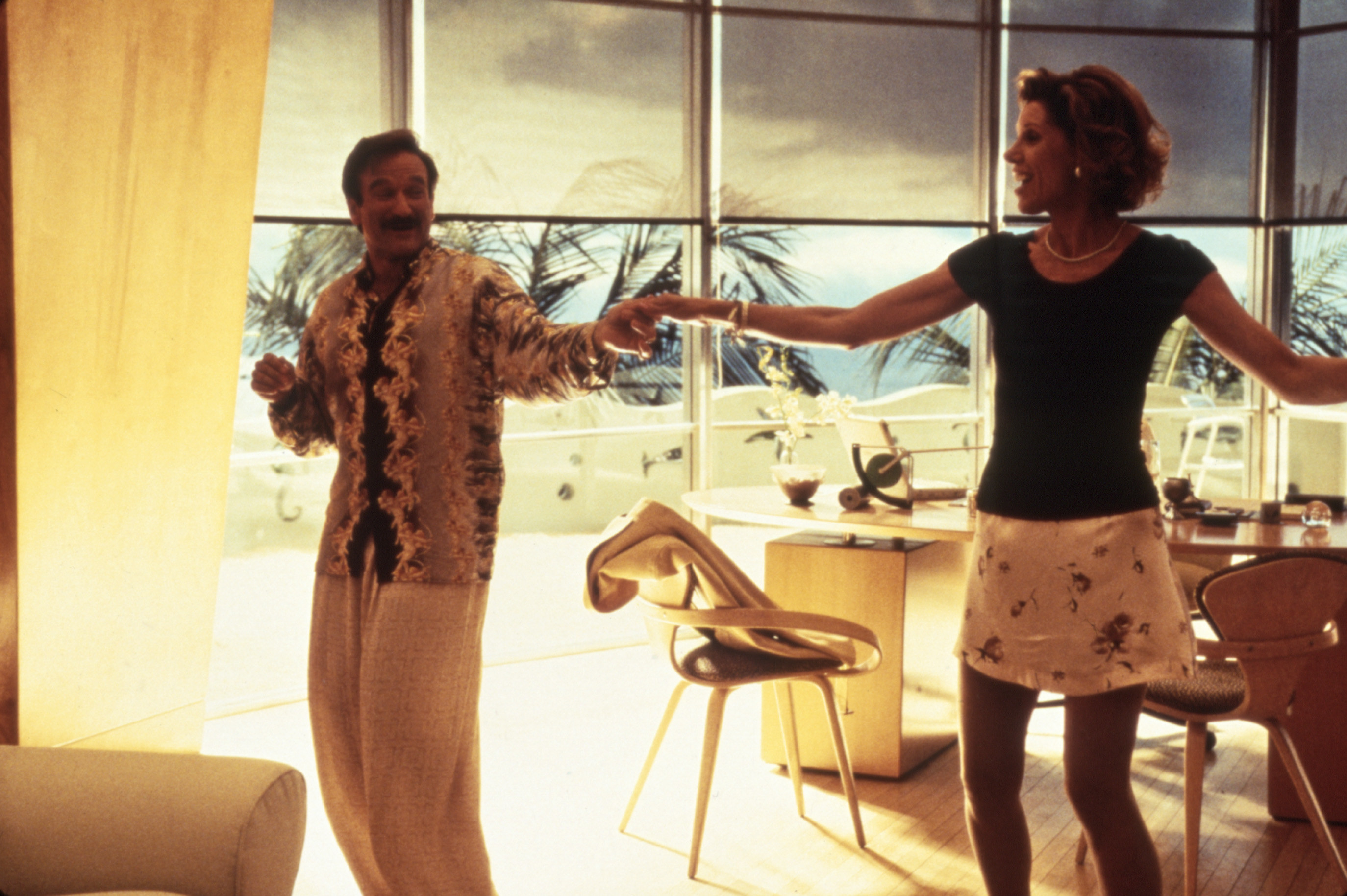 Robin Williams and Christine Baranski in The Birdcage