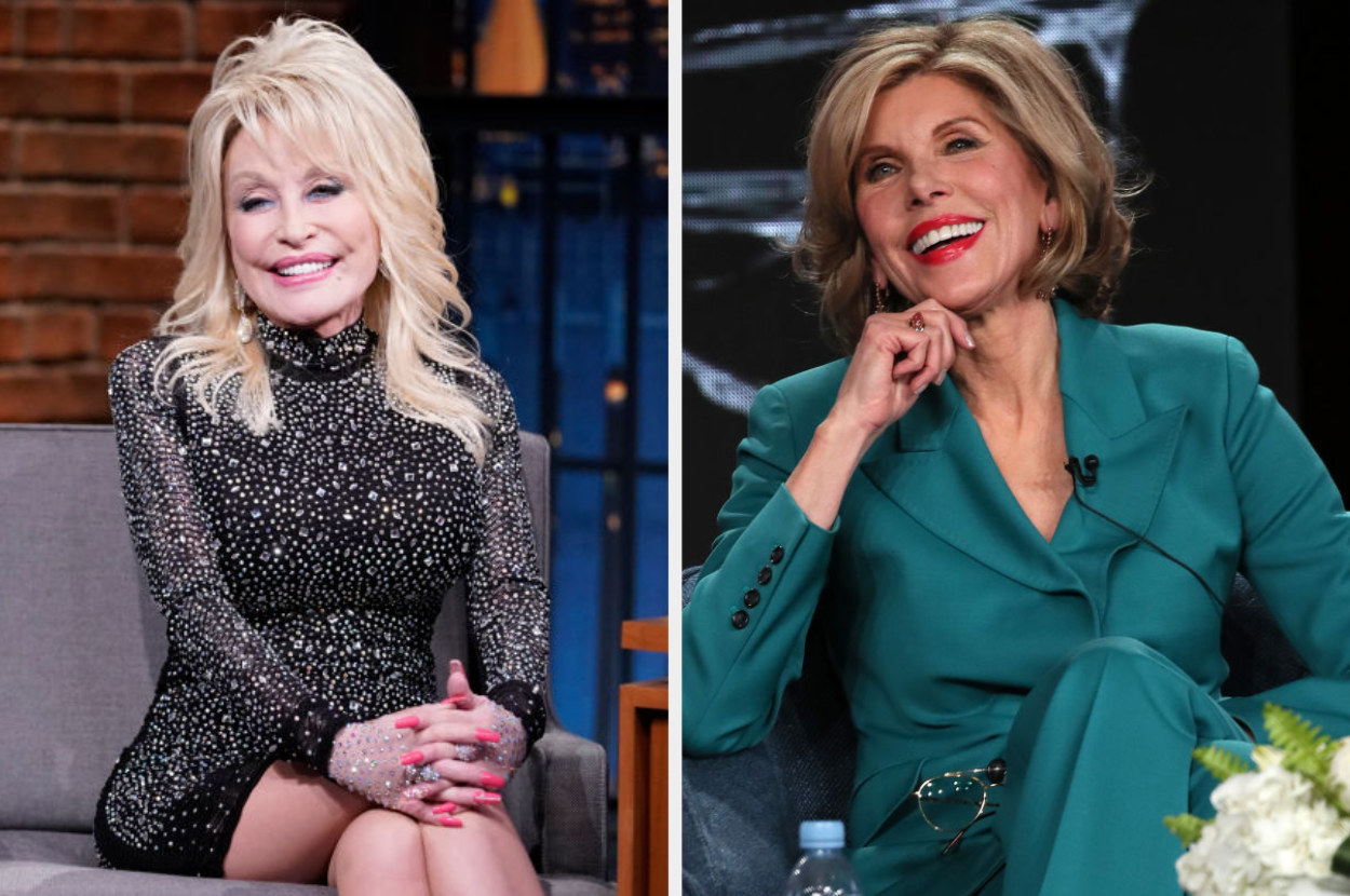 Side by Side of Dolly Parton and Christine Baranski