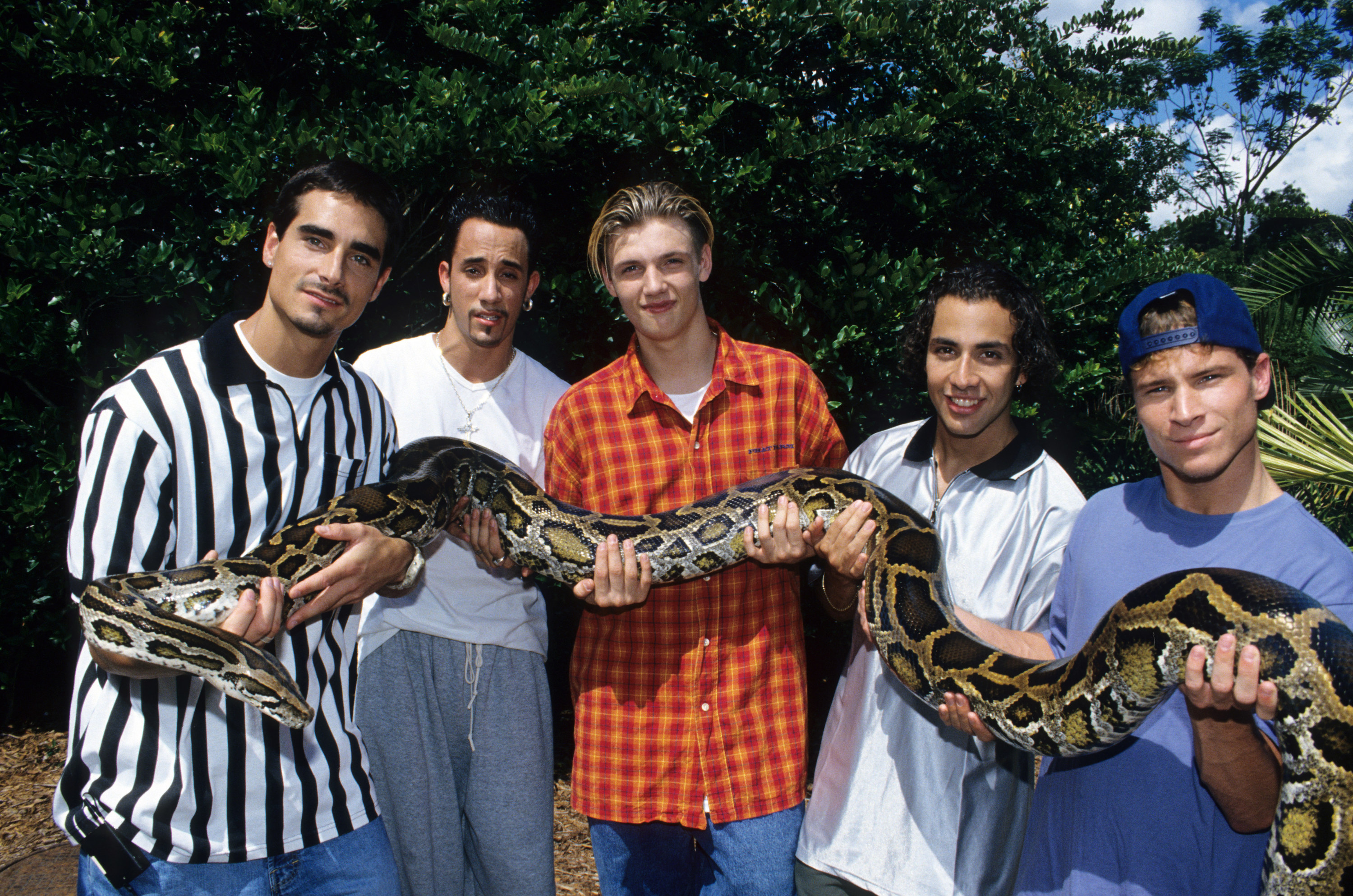 BSB holding a snake