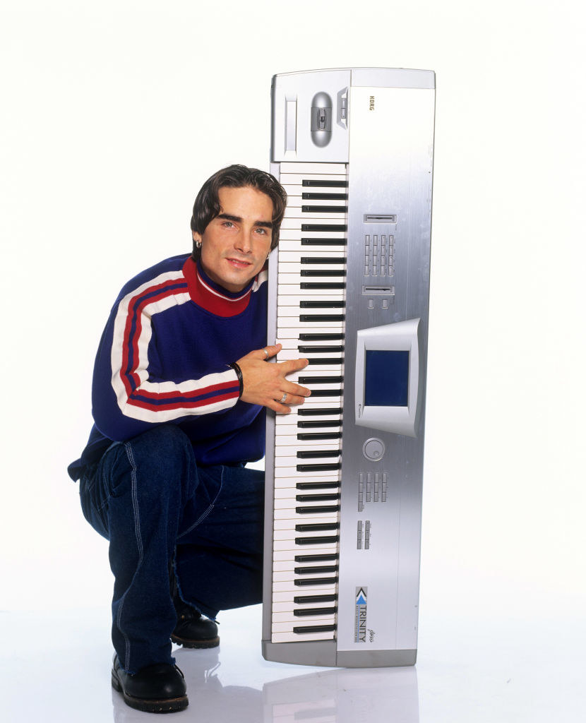 Kevin Richardson and a large keyboard