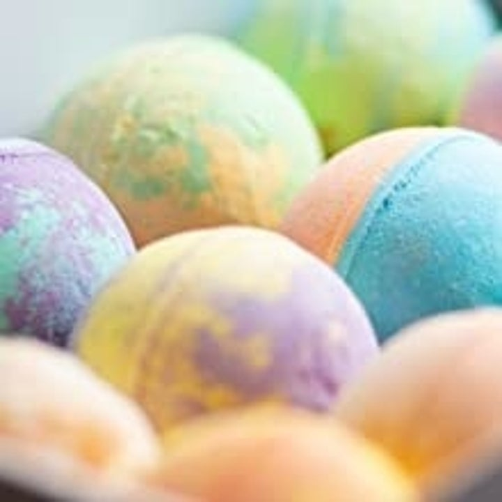 a close-up photo of the bath bombs