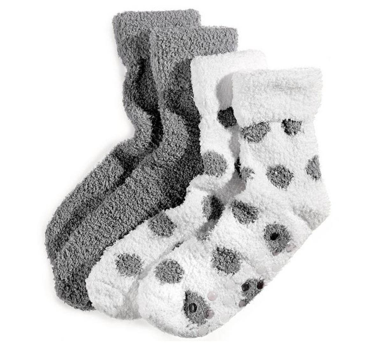 Shea butter infused fuzzy socks
