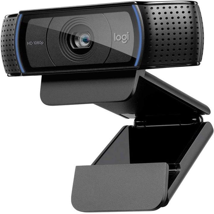 The black Logitech webcam