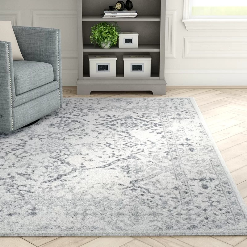 The area rug in a living room