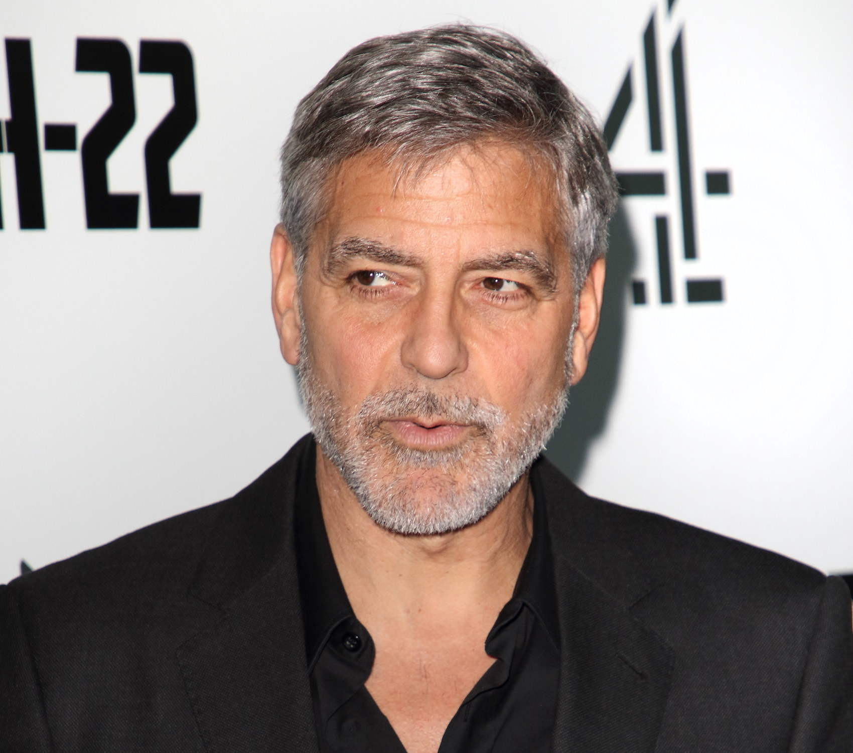 George Clooney attends the Catch 22 - TV Series premiere