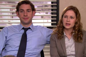 """Jim and Pam from """"The Office"""""""