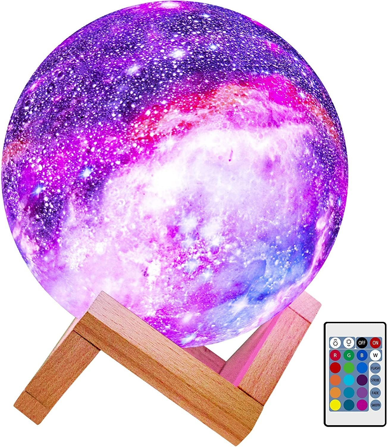 the multi-colored moon lamp