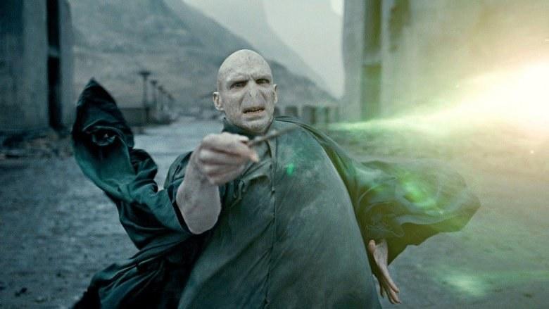 Voldemort casting a killing curse