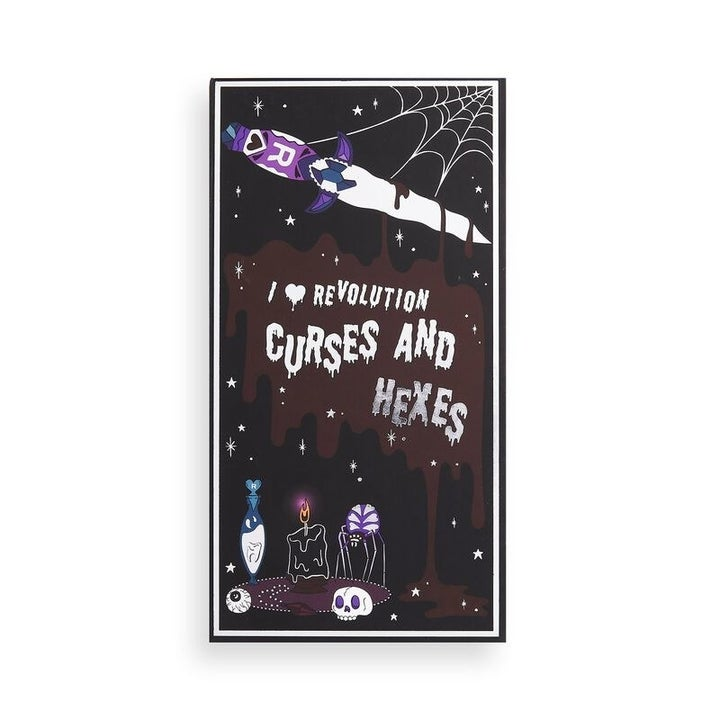 the cover of the spellbooks curses and hexes eyeshadow palette