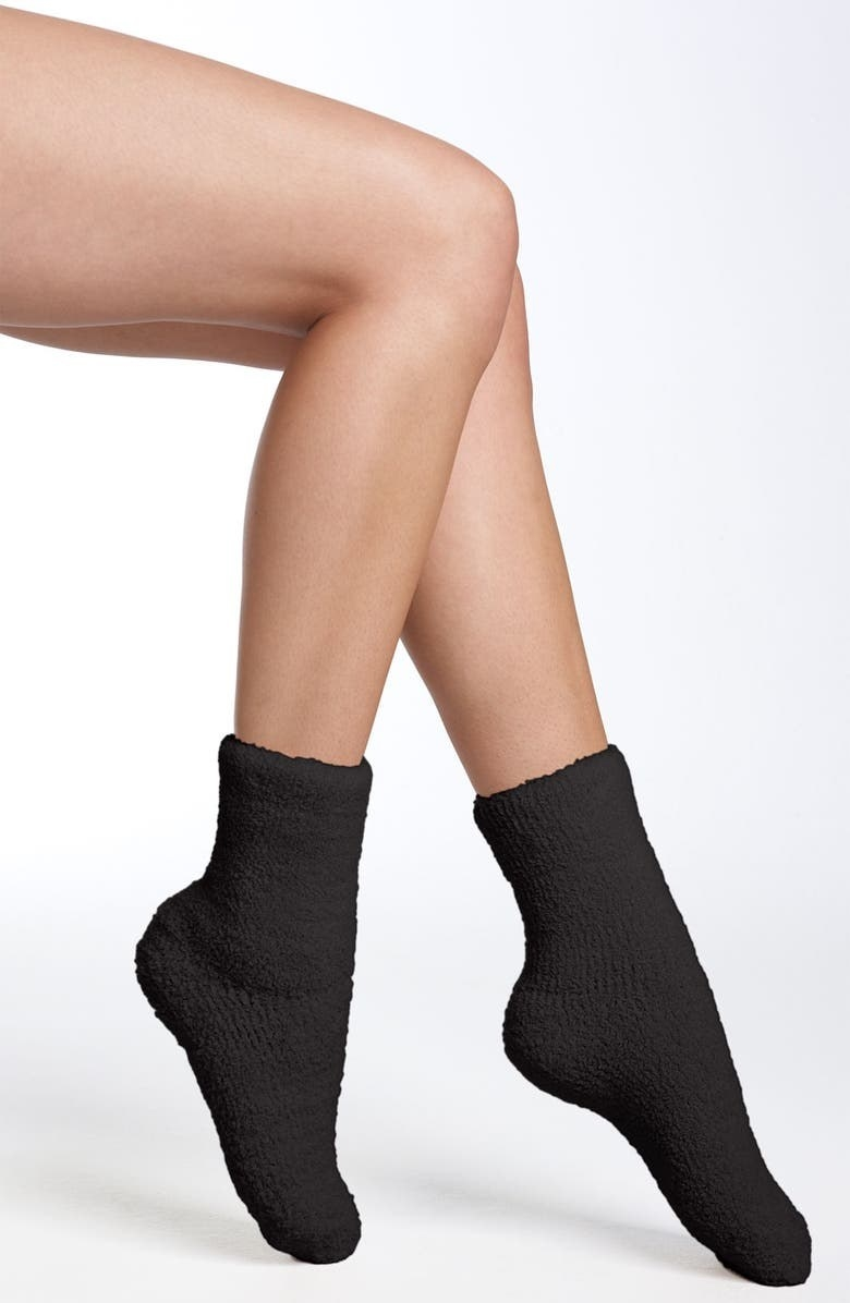 The fuzzy socks in black