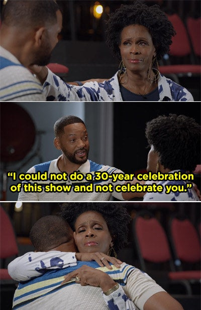 "Will Smith telling Janet, ""I could not do a 30-year celebration of this show and not celebrate you"""