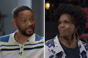 Will Smith and Janet Hubert talking