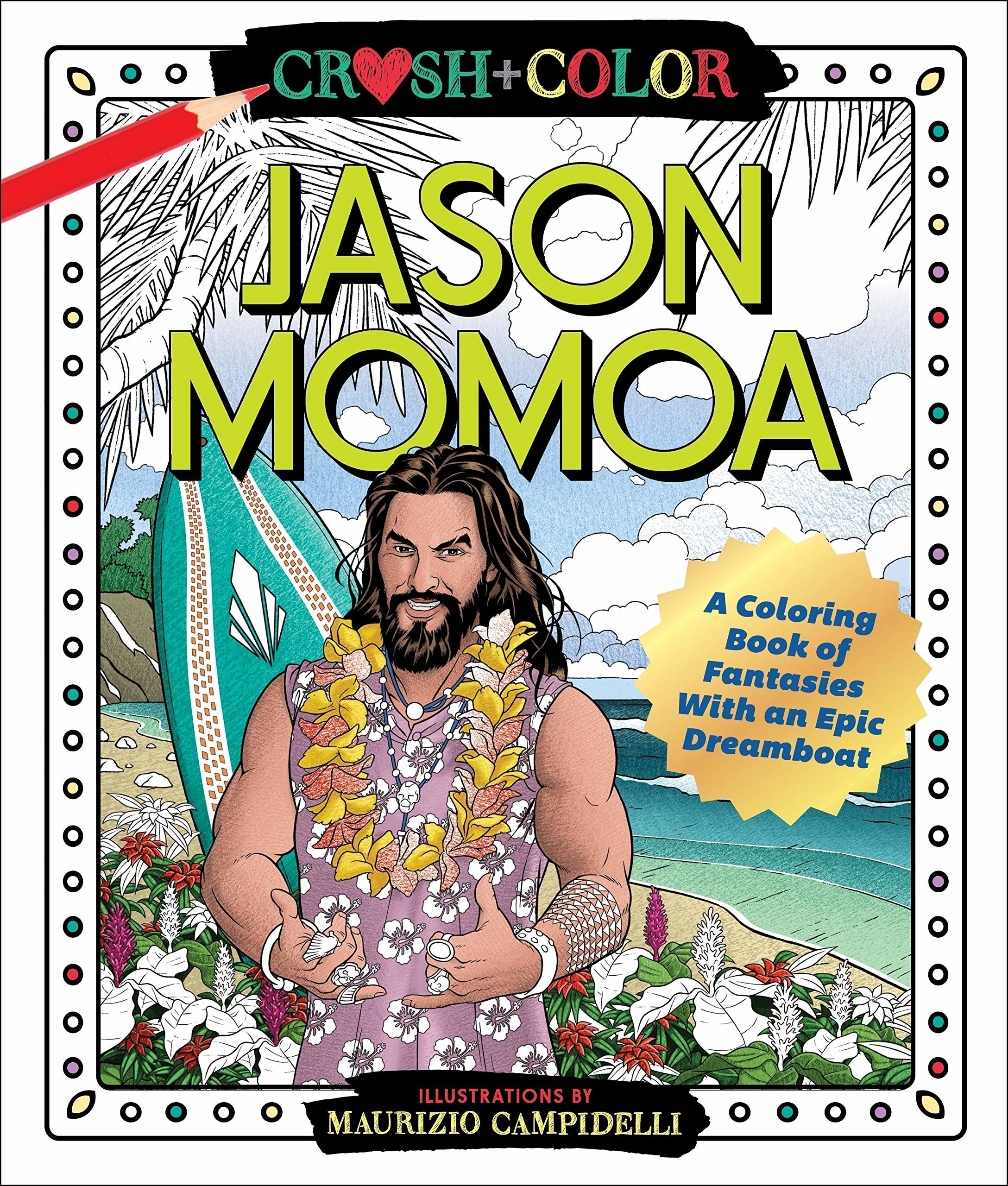 The cover of the Jason Moma colouring book