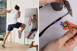 锻炼镜子并修复它的工具