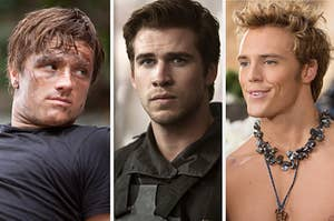 Peeta, Gale, and Finnick from The Hunger Games