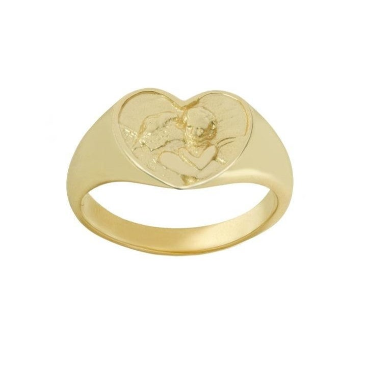 the heart-shaped ring