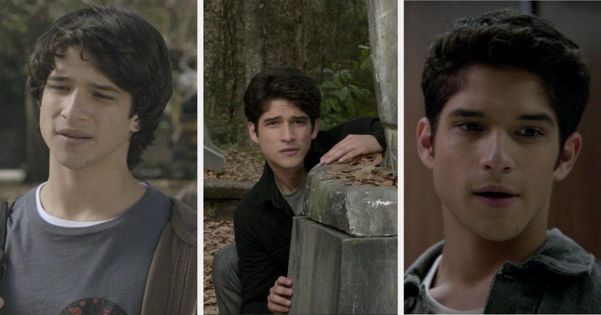 Scott with long swoopy hair, then shorter hair that fell down over his face, then slightly gelled back even shorter hair
