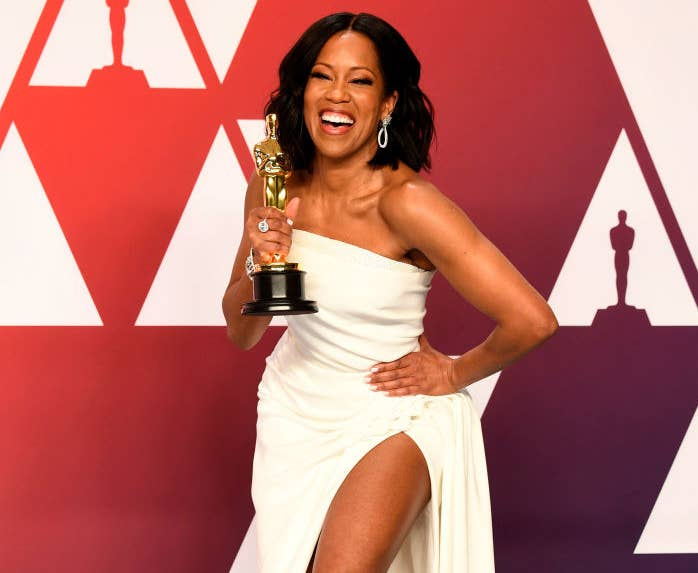 Actor Regina King, winner of the Oscar's Best Actress in a Supporting Role award